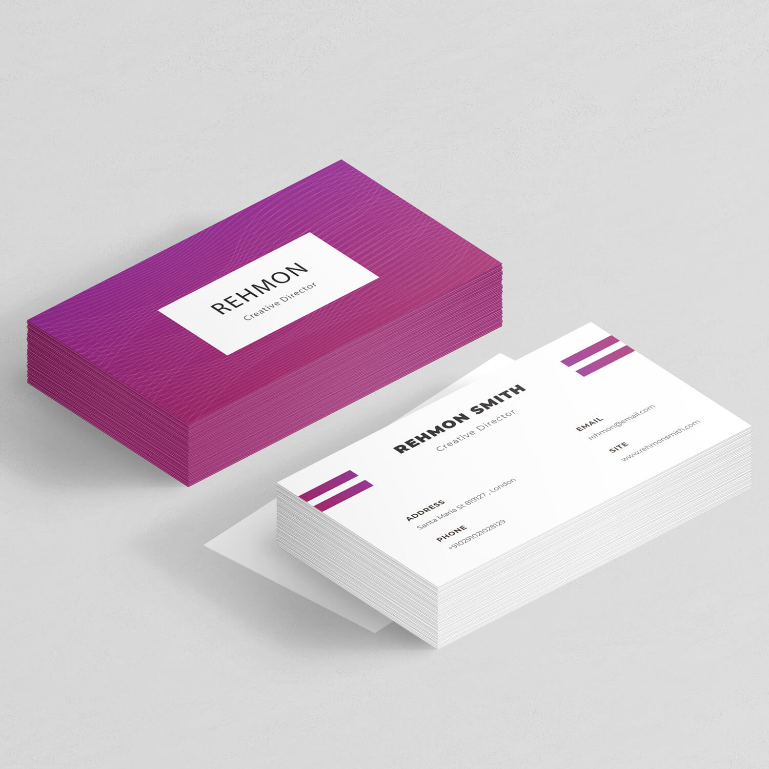 Rehmon – Business Card design